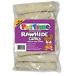 Four inch roll curls - natural flavor for dogs. 1 pound bag