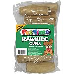 All natural - made from grain fed cattle. What dog can resist the taste of rawhides combined with Peanut Butter. Value plus 1 pound bag.  4 Inch Peanut Butter Roll Curls for Dogs 1 lb.  Delicous rawhide treats.