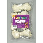 Rawhide dog chews. Always supervise your pet when giving them any treat.
