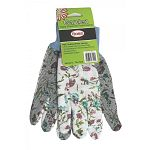 Keep your hands clean and protect them while working in the garden or yard with these PVC coated gloves by Boss. PVC dots cover the palm, thumb and index finger to give you a more secure grip. Made of cotton and available in assorted colors.