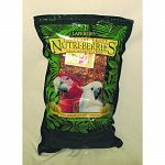 Tropical Fruit Nutri-berries are available in three size nuggests: a smaller size nugget for smaller birds such as Budgies, Cockatiels, smaller Conures and a larger size nugget for all other parrots, as well as XLarge for Macaws.