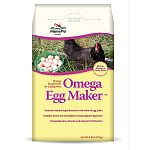Rich source of omega-3 fatty acids. Contains natural ingredients for rich-colored egg yolks. Includes direct-fed microbials to help support digestion. Comprehensive vitamin and mineral fortification. Supplement for laying hens.