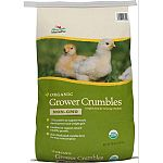Usda certified organic grower crumble with 17% protein Provides for a complete organic feeding program from chick to layer