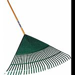 Quickly and efficiently collects leaves, grass clippings, twigs, pine needles, acorns and more Ideal for home, farm or work Both poly construction rake head with wood handle provides strength and durability for years to come