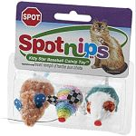 Ethical's fun Spot Nips Rainbow Mice is the essential toy for any cat owner to collect. Made with fun, bright rainbow colors, these mice are stuffed with catnip to encourage play. Great for interactive play! Assorted colors. Choose 3 or 9 pack.