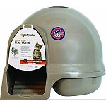 Booda dome clean step worlds greatest cat litter box with built-in clean step litter mat and handle.