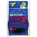 The Booda Dome Filter comes in a convenient 2 pack. Made of charcoal, this filter will continuously freshen the air in and around your cat's Booda Dome kittly litter box. Made especially to fit the Booda Dome.