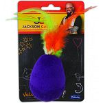 Feather-topped cat toy Polyester covered with acrylic base
