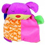 A small, soft, plush toy featuring crinkle blanket body for hours of enjoyment for your puppy or small dog.