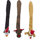 Skinneeez stuffing free durable dog toy Made of tough ballistic nylon material that will stand up to aggressive play Features squeaker in the head and tail Satisfies dog s hunting instinct as it simulates prey