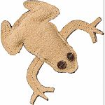 The leather frog cat toy is made with real leather which cats crave.