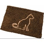 Clean paws cat mat is made with suber absorbent micro fiber and has a non skid backing to keep in place. The mat can be used as a litter mat by pulling litter off the cats paws. Can also be used for food and water dishes Machine washable or shake out the