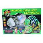 Let zoo med help you get started on your tropical habitat with the tropical uvb & heat lighting kit Includes: mini combo deep dome lamp fixture, daylight blue reptile bulb (60 watt), reptisun 5.0 mini compact fluorescent