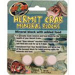 A specially made mineral and food block for the health of your hermit crabs Great time release vacation food! Each block will feed one crab for up to 4 days Enrichment fun! Your hermit crabs will sit on top of the banquet block for hours picking away at