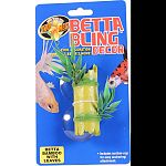 Cool decorations for your betta s home Give your aquarium some style with zoo med s betta bling decor Includes suction-cup for easy anchoring and attachment.