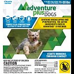 Controls all life stages of fleas-eggs, larvae, pupae and adults. A convenient once-a-month topical treatment. Adventure plus kills fleas through contact within 12 hours of application- so unlike oral treatments. Adventure plus is waterproof and stays eff