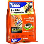 Turn ant control upside-down with our easy-to-use shaker bag!  Kills ants, cockroaches, spiders, fleas, ticks & more!  Provides long-lasting control. Shake Terro Outdoor Ant Killer around the perimeter of your home. 3 lbs each. Case of 12.