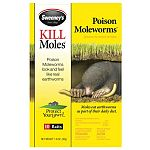 Poison moleworms look and feel like real earthworms. 10 mole worms per pack. Flags for marking included. Gloves for handling included.