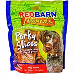 Tasty, crunchy, and long lasting, these porky slices are roasted in their natural juices that dogs love to chew and eat. Each porky slice is 80 calories and may be given as a snack or a treat. Available in a 10 count or a package of 1.5 pounds.