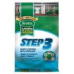 Scotts Lawn Pro Step 3 Insect Control With Fertilizer controls all major turfgrass insect problems and fertilizes your lawn. Provides even greening without rapid, extreme growth and controls chinch bugs and other common insects. Size: 5,000 sq. ft.