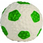 Latex soccerball dog toy with squeaker Perfect for puppies and toy breeds Hours of durable fun