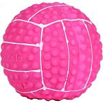 Perfect for puppies and toy breeds Latex volleyball with squeaker Hours of durable fun