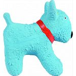 Perfect for puppies and toy breeds Latex dog shaped toy with squeaker Hours of durable fun