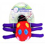 Featuring a unique combination of latex and plush, this colorful ladybug has textured latex legs for tugging & chewing With a squeaker safely encased inside of the plush body This unique and innovative design is sure to provide hours of big fun for little