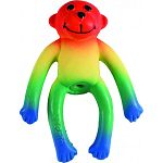 Perfect for puppies and toy breeds Latex monkey shaped dog toy with squeaker Hours of durable fun