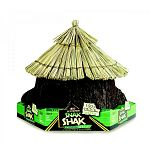 Offer your hamster, gerbil, or other small pet a secure hiding spot and tasty chew toy. The Snak Shaks are 100% pet-safe, 100% edible straw-roof huts or open-ended logs your small pet will love.