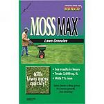 MossMax Kills lawn moss quickly. Will not harm lawn grasses. Non-fertilizer product does not stimulate excess growth. Iron formula greens up stressed turf. Covers 5000 square feet of turf. Apply with any standard lawn spreader.