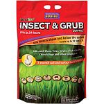 Only one application controls insects both above and below the soil surface. Fast acting, season long control of grubs, cranefly, billbugs, chinch bugs, weevils, ticks, fleas, and many more! Protects from top to bottom, with a wide application window so t