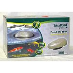 TetraPond water garden experts have developed its newest addition to its product line dedicated to the health of pond fish: the TetraPond De-Icer, a winter survival solution for fish. Uses 300 watts and is effective in temperatures as low as -20°F.