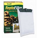 The ReptoFilter Cartridges are disposable replacement filter cartridges to be used in the ReptoFilter. Cartridges have a dense, dual-sided mesh that is designed to keep debris and waste. Cartridges is made to absorb bad odors and discolored water.