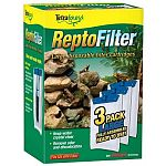 Large disposable filter cartridges for repto filter. Keeps water clear and removes odors. With whisper technology.  Tetra ReptoFilter Cartridge 3-Pack is filled with Ultra Activated carbon.