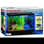 Kit comes complete with 20 gallon high aquarium, fluorescnent light and bio-wheel filter. Also includes: set-up guide, flake food, water conditioner, thermometer and fish net and heater.