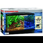 Kit comes complete with 29 gallon aquarium, fluorescnent light and bio-wheel filter. Also includes: set-up guide, flake food, water conditioner, thermometer and fish net and heater.