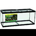 Glass aquarium with new screen top with single handed operation. 2 cam locks on each side for extra security. Full width clip on rear of screen to prevent movement. Punch outs for cord routing. Padlock compatible.