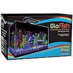 Includes everything you need to get started and be successful. Kit includes a 20 x10 glass aquarium & canopy, whisper internal filtration, medium filter cartridge, and 24 blue led light.