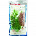 Pack contains 4 silk plants: 6 in foxtail, 6 in cabomba, 9 in corkscrew val, 9 in green bacopa Provides cover for the fish and reduces fish stress Easy to install and clean