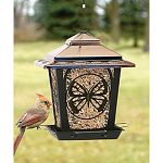 Gorgeous hopper style bird feeder with a classic butterfly design.