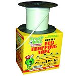 Non-Polluting, non-toxic Sticky Roll is a reel-to-reel system of sticky tape that really catches flies! When flies first hatch, after feeding, or when the weather cools, they tend to congregate overhead, where they are caught on the roll.