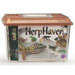 The ideal carrier for various species of reptiles and amphibians. Self-locking lid with hinged viewer/feeder window. Includes carrying handle for easy transport. Dimensions 7.13 inches long x 4.38 inches wide x 5.5 inches high