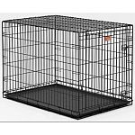 Home training and travel crate for dogs cuts housebreaking time in half by keeping puppy from eliminating in one end and sleeping in the other. Allows you to adjust the length of the living area as your puppy grows into its new home.