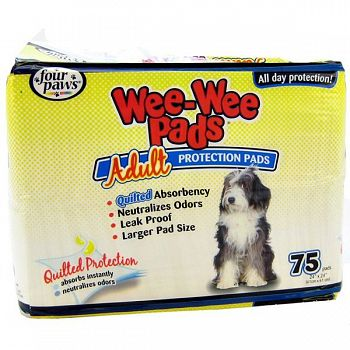Wee Wee Pads For Adult Dogs - 75 pk.