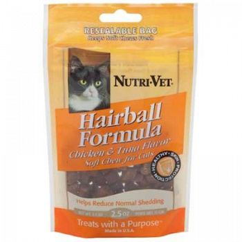Hairball Formula Soft Chews for Cats - 2.5 oz.