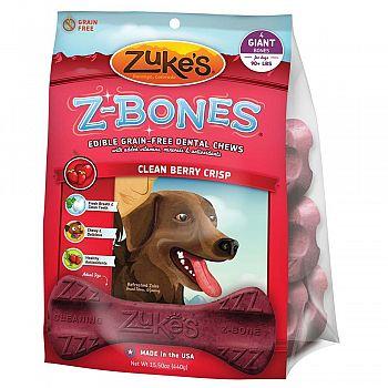 Z-bones Dental Chews - Berry Crisp / Giant 4 pk.