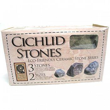 Cichlid Stone Aquarium Decor - 3 pk.