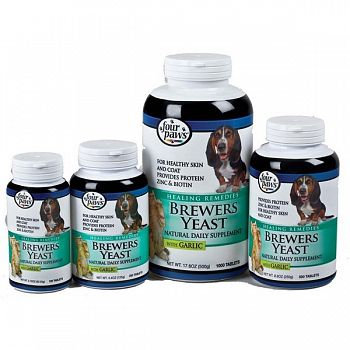 Brewers Yeast Dog Supplement  with Garlic - Four Paws
