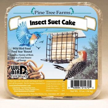 Insect Suet Cake for Wild Birds - 12 oz.